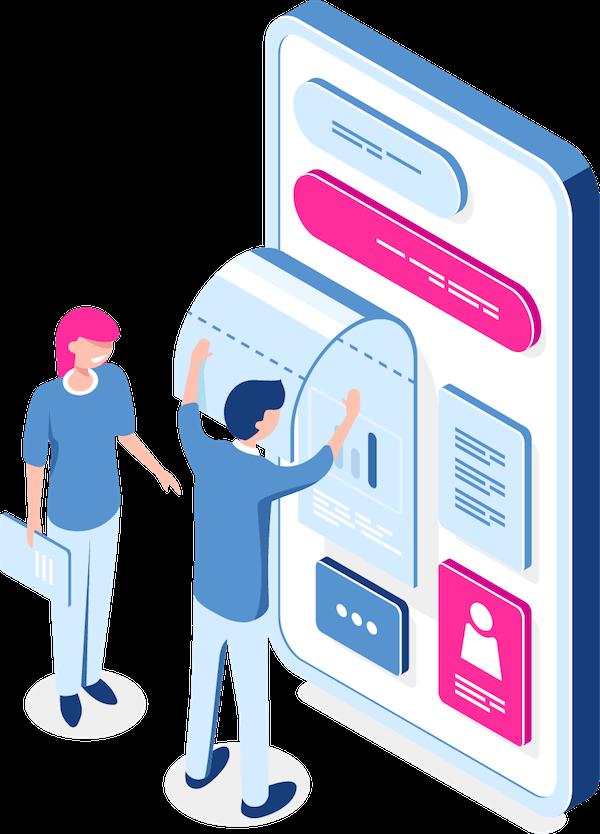 طراحی گرافیک رابط کاربری سایت و اپلیکیشن